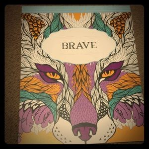 """2 Adult Coloring Books- """"BRAVE"""" & """"Tropical World"""""""